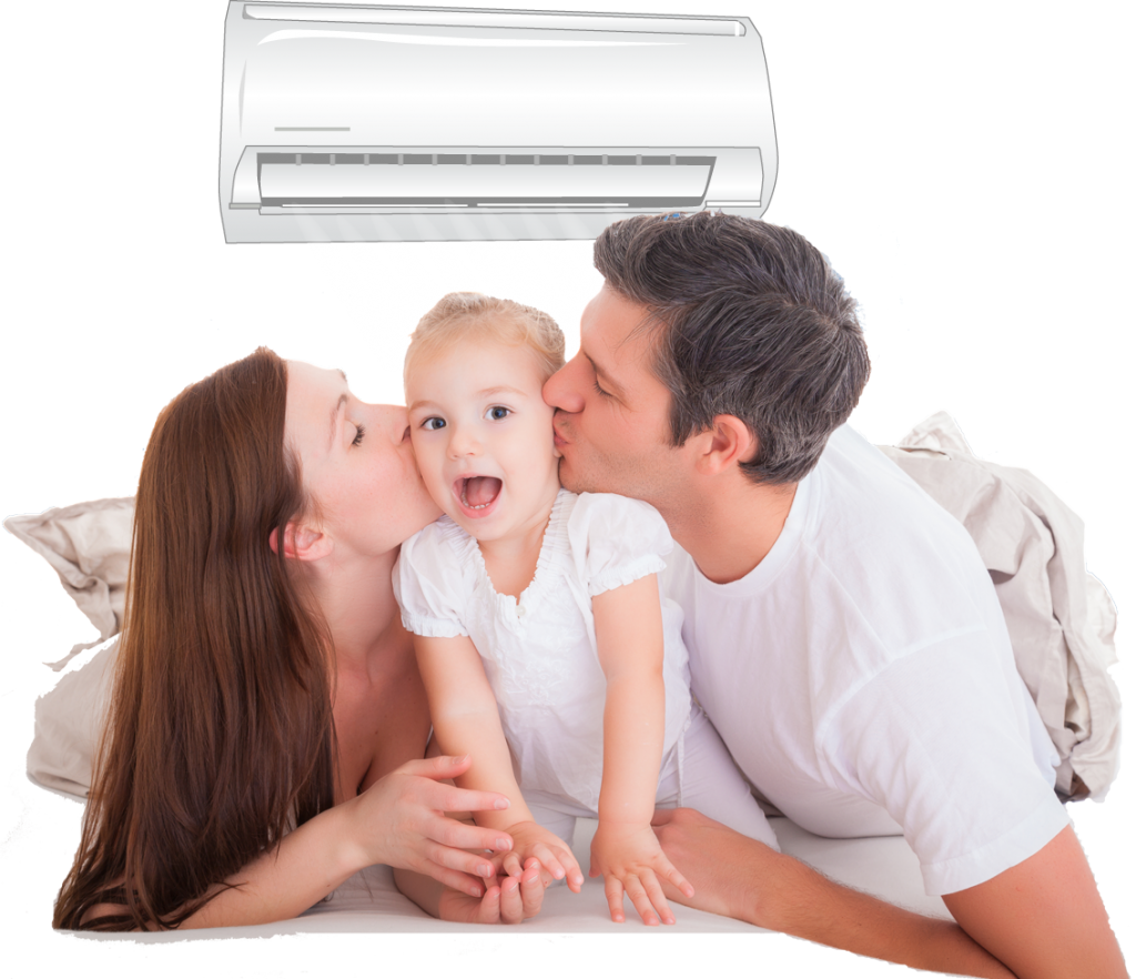 air conditioner with family